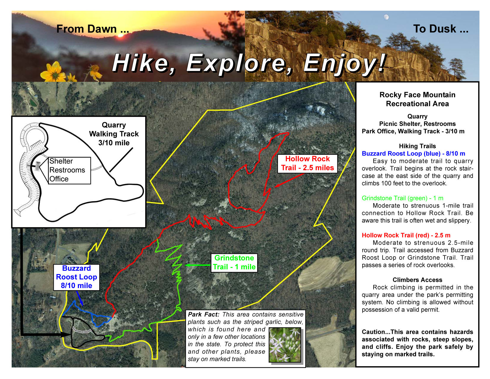 Rocky Face Trail Map on
